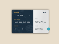 Daily UI #002 - Credit Card