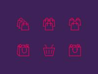 Shopping Bag Icons Proposal