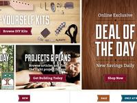 More Rockler home page design