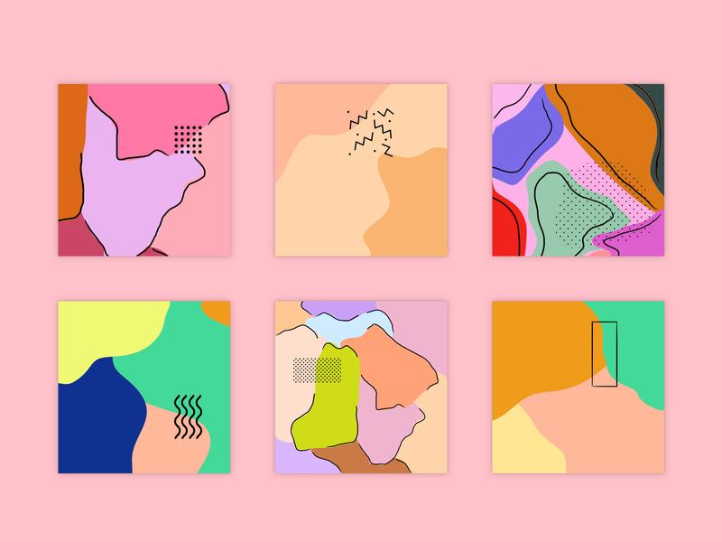Memphis Summer Pattern vector design illustration abstact minimal pattern memphis