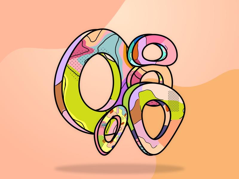 Memphis Flock vector design illustration minimal abstact pattern memphis