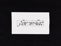 NICE FOR WHAT? // Typeface inspired by @paido_dww