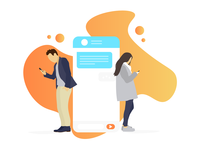 Chat App Illustration