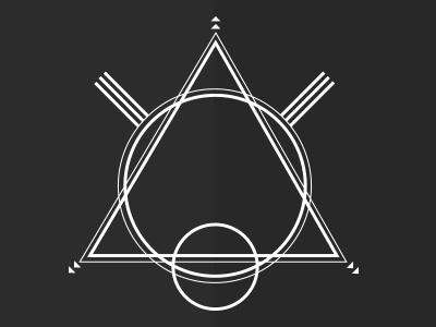 Geometric pulse geometric form illustration bear