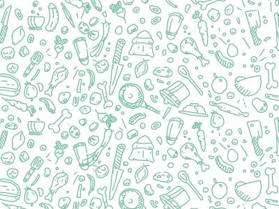 A little food pattern bear illustration pattern food little