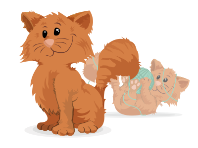 Proud cat funny illustration cat proud