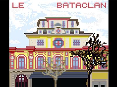 PRAY FOR PARIS bataclan illustration paris for pray