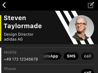 iOS Contacts App Redesign — custom branding