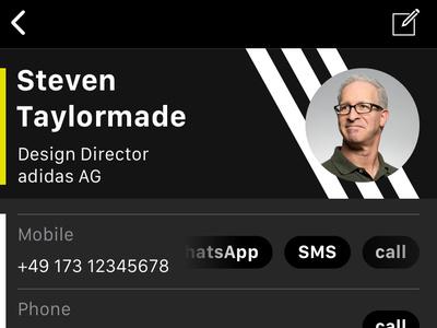 iOS Contacts App Redesign — custom branding ux design uxdesign ux ui design uidesign ui skin iphone interfacedesign interface contact apple appdesign app