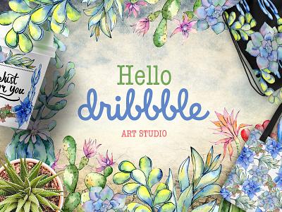 Content Association watercolor art studio hello