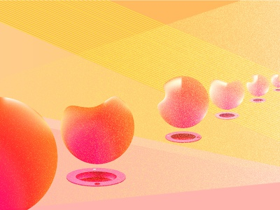 Balls and More balls design abstract balls pink peach colours illustration