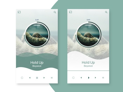 Music Player app app design forest green color beyonce ux ui daily ui music player music