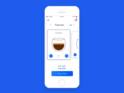 Coffee Shopping ui design icon design illustration web design product design cart check out coffee shop ui mobile design app design adobexd