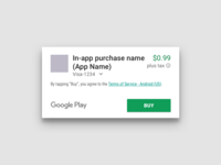 Google Play In-App Purchase Dialog