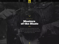 Barber Shop One-Pager for WordPress