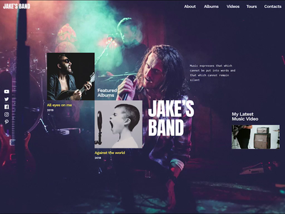 Jakes Band - Music Band Template for WordPress free slider template design music album band music template wordpress wordpress slider slider revolution