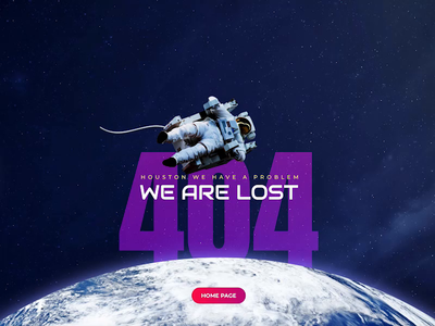 404 Error Page - Space Theme