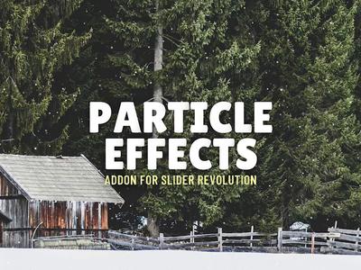 Snow Particle Scene design illustration website hero image template wordpress slider wordpress slider revolution winter particle effect snow