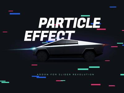 Cyber Particle Effect design illustration template hero image slider plugin wordpress slider slider revolution cyber truck particle effect