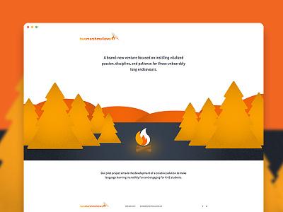 Two Marshmallows Landing Page startup marshmallows flame fire onepage landingpage