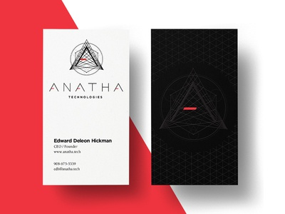 Anatha Technologies design print sacredgeometry businesscard cryptocurrency