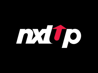 Nxtup arrow up red branding brand logo commence clothing