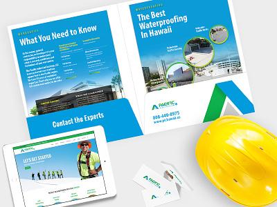 Pacific Industrial Coatings website brochure print logo roofing branding