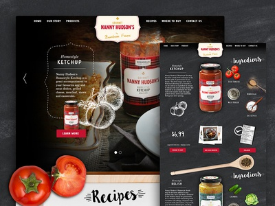 Nanny Hudson Website ingredients tomato recipe recipes relish ketchup food design website