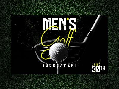Golf Tournament graphicdesign grass men tournament golf