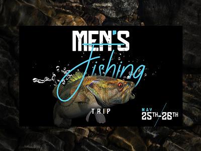 Fishing Trip bass graphicdesign rocks water men trip fish
