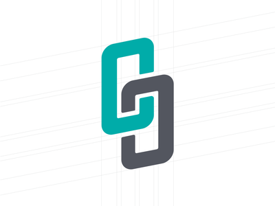 Crossed Culture Music green grid chain link music brand logo