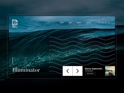 Danny Sepkowski Photography photography minimal ui deisgn landing page ecommerce wave waves water hawaii