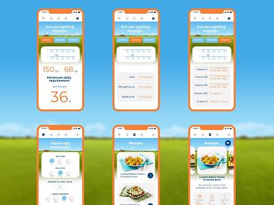 Burnbrae Farms / Promotional App uidesign adobe xd xd recipe food farms eggs app