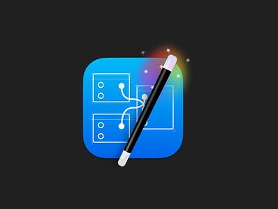 Quartz Composer Big Sur Icon icon design macos icon macos origami studio magic wand quartz composer big sur apple