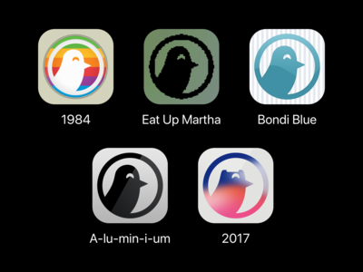 Nighthawk For Twitter - Apple History Icon Set