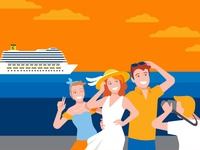 Costa Crociere - MyMoments album cruise ship happiness sunglasses sunset orange photoalbum photography photo cruise holiday people illustrator vector design vector art vector illustration design branding corporate identity graphics