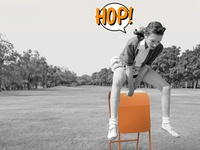 HOP! New & Original stool