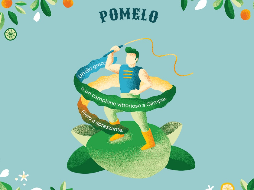 Citrus festival - Pomelo pattern art graphic design character leaves leaf green citrus tamer circus texture illustration