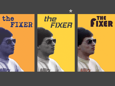 Poster: The Fixer photoshop low resolution lo-res flat typography 1970s poster