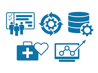 AmdeXperience Icons branding illustrator vector devops enterprise architecture digital strategies project management it services information technology flat icons