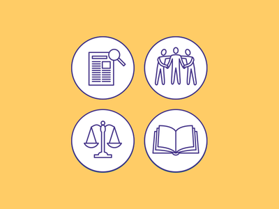 NCEA Elder Justice Icons elder justice line art illustration education policy practice research vector illustrator icons flat