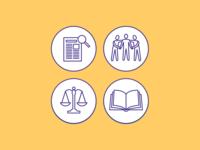 NCEA Elder Justice Icons