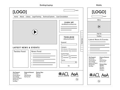 NCLER Wireframes website prototype vector illustrator ui responsive process wireframe