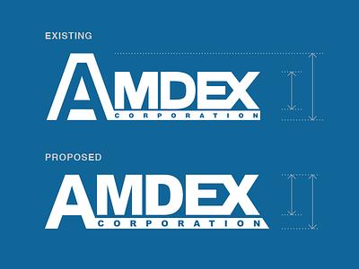 AMDEX Logo Redesign (Proposed) logomark typography readability vector improvement simplify illustrator redesign logo