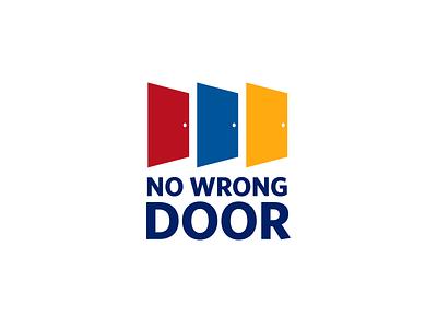 No Wrong Door Logo government branding identity typography illustrator program in-house vector design logo