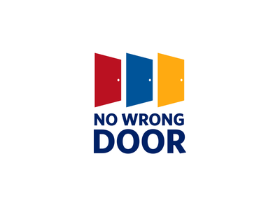 No Wrong Door Logo government branding identity typography illustrator program in-house vector design logo