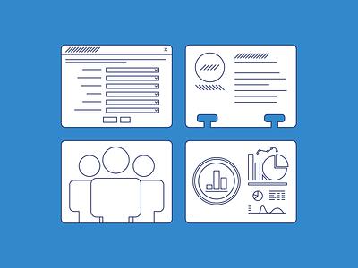 No Wrong Door Illustrations line art design government in-house illustrator illustration icons vector