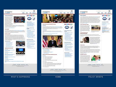 WHCoA Website Screens web design user interface white house screenshots thumbnails website css html dreamweaver layout front-end