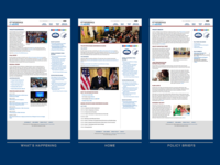 WHCoA Website Screens