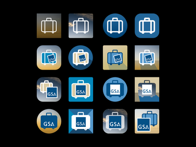 GSA Per Diem Icon Thumbnails graphic design flat government icon design vector photoshop illustrator variations